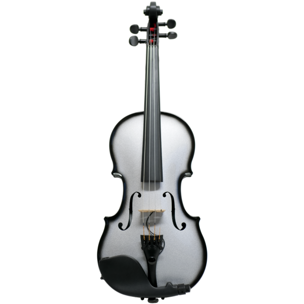 Glasser AEX Carbon Acoustic E-Violin, silver
