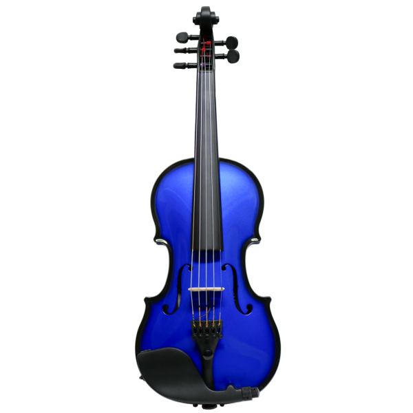 AEX Carbon Violin, 5 Strings, blue
