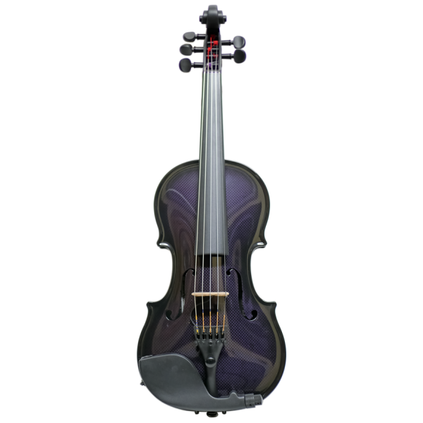 Glasser Carbon Acoustic E-Violin, 5 Strings, purple