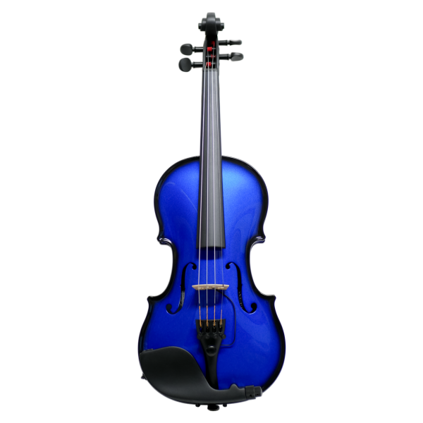 Glasser AEX Carbon Acoustic E-Violin, blue
